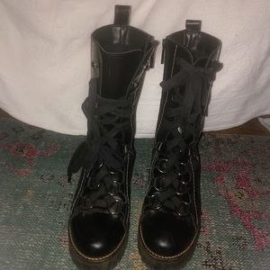 ZARA black boots size 6